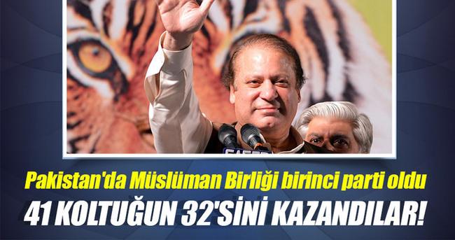 Pakistan'da Müslüman Birliği birinci parti oldu