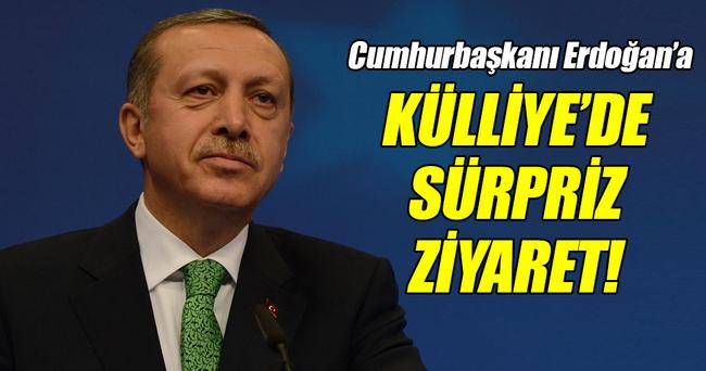 Cumhurbaşkanı Erdoğan'a Külliye'de sürpriz ziyaret!