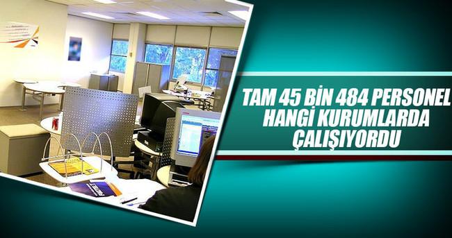 Kamuda 45 bin 484 çalışan görevden uzaklaştırıldı