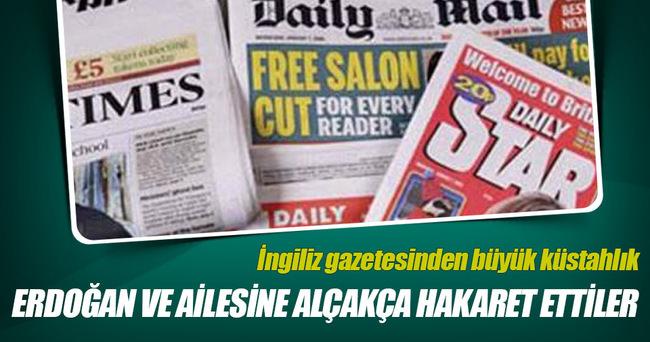 İngiliz gazetesinden Cumhurbaşkanı Erdoğan'a hain iftira