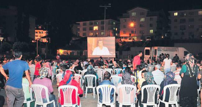 Mamak'ta nostaljik sinema geceleri
