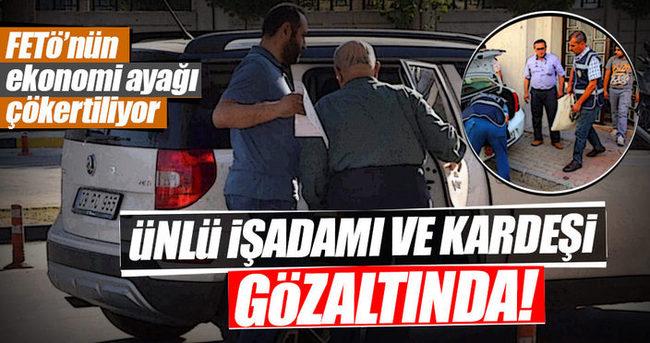 Nazilli'de ünlü işadamı ve kardeşi gözaltında