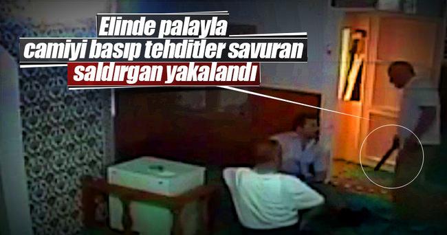 Cami görevlisine saldıran şahıs yakalandı