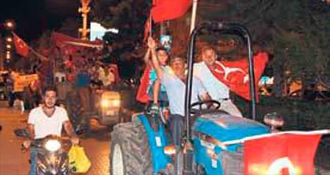 Traktörle darbeye tepki