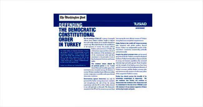 TÜSİAD'dan demokrasi ilanı