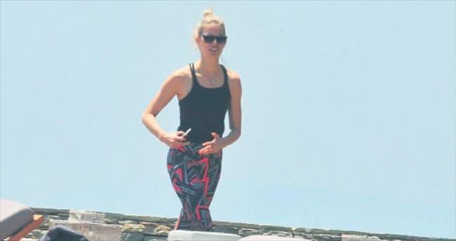 Kurkova tatil için Bodrum'u seçti