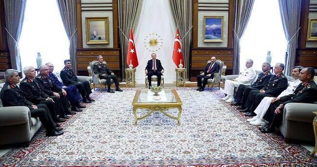Cumhurbaşkanı, Org. Akar ve kuvvet komutanlarını kabul etti