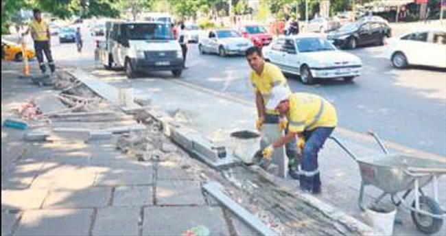 Başkentte büyük onarım sürüyor