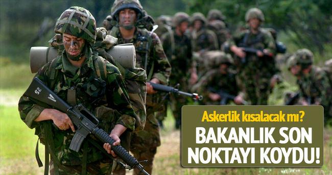 Milli Savunma Bakanlığı'ndan askerlik açıklaması