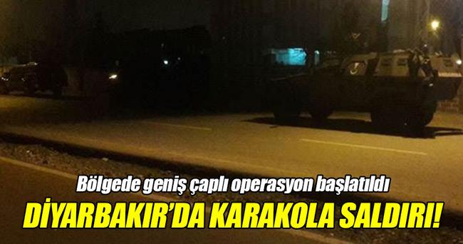 Diyarbakır'da jandarma karakoluna saldırı!