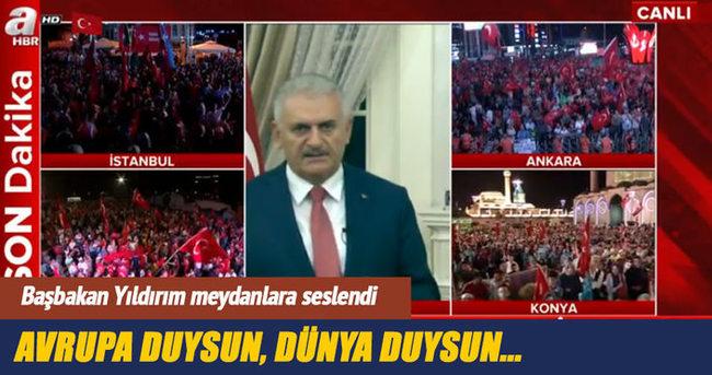 Başbakan Yıldırım: Türkiye 15 Temmuz öncesine göre daha güçlüdür