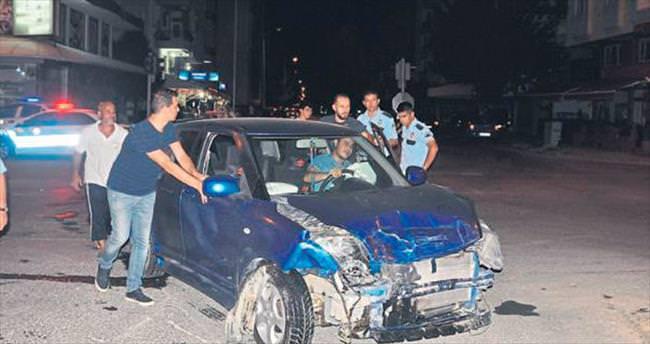 Kurşunladılar kaza yapıp yakalandılar