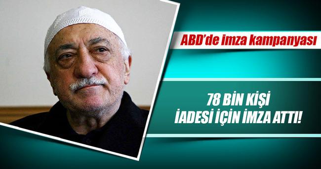 ABD'de Gülen'in iadesi için rekor imza