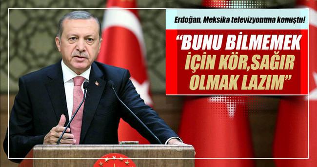 Cumhurbaşkanı Erdoğan Meksika'nın Televisa televizyonuna konuştu