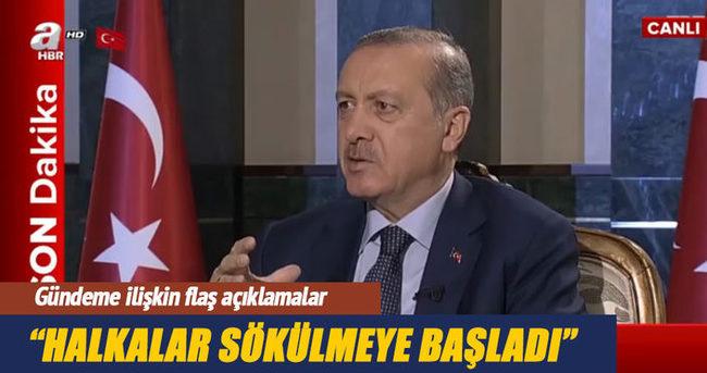 Cumhurbaşkanı Erdoğan: Halkalar sökülmeye başladı
