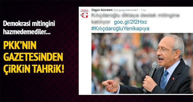 Özgür Gündem'den Kılıçdaroğlu'na miting saldırısı