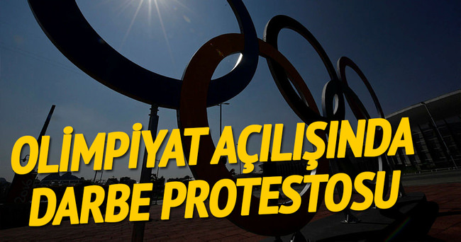 Olimpiyatlara protestolu açılış