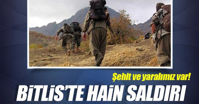 Bitlis'te terör saldırısı: 1 şehit, 1 yaralı