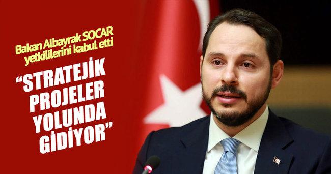 Bakan Albayrak PETKİM ve SOCAR başkanlarıyla görüştü