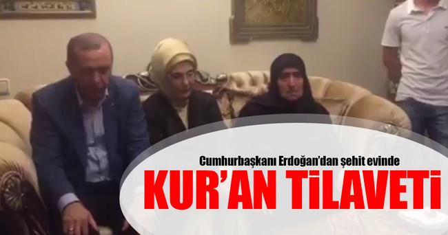Cumhurbaşkanı Erdoğan'dan, şehit ailelerine taziye ziyareti!