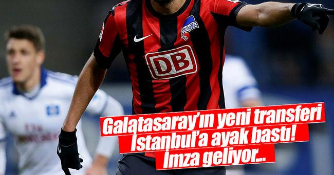Galatasaray'ın yeni transferi İstanbul'a geldi