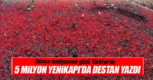 Milyonlar darbeye karşı Yenikapı'da