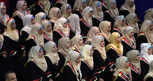Gazze'de işitme engellilerin ilk üniversite mezuniyeti