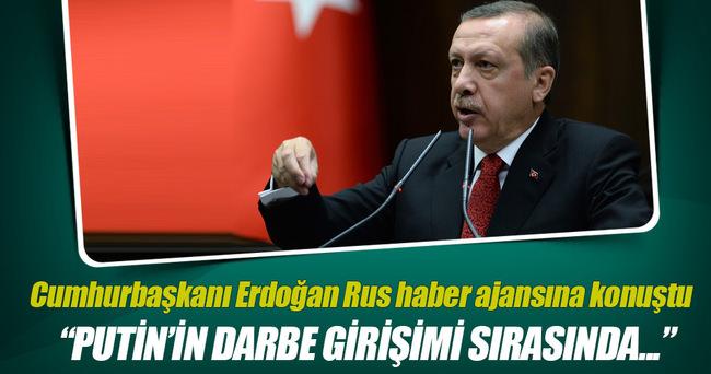Erdoğan Rus haber ajansı Tass'a konuştu