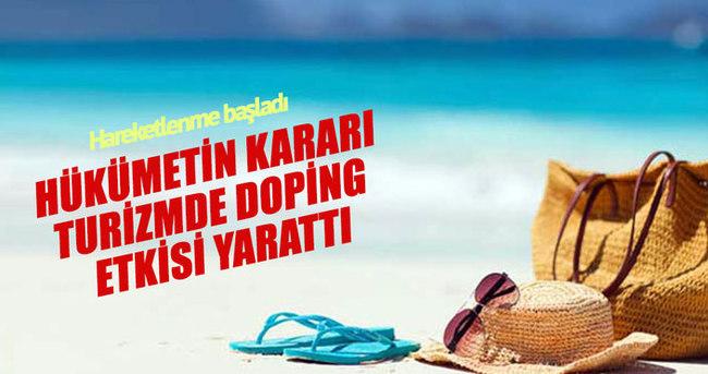 Kamuda izinlerin serbest bırakılması turizmde doping etkisi yaptı