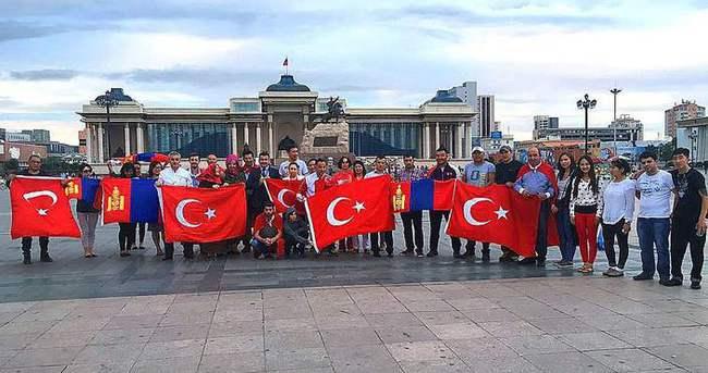 Demokrasi ve Şehitler Mitingine Moğolistan'dan destek