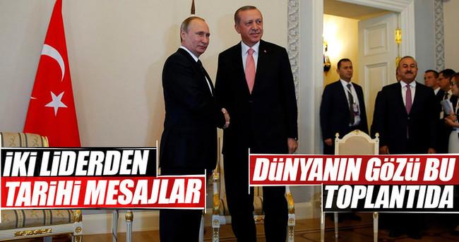 Cumhurbaşkanı Erdoğan-Putin görüşmesi