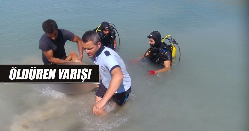 Yüzme yarışı yaparken boğuldu