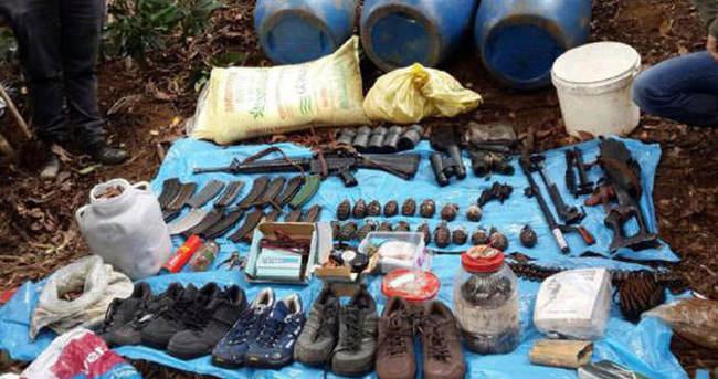 Gümüşhane'de PKK'nın deposu bulundu