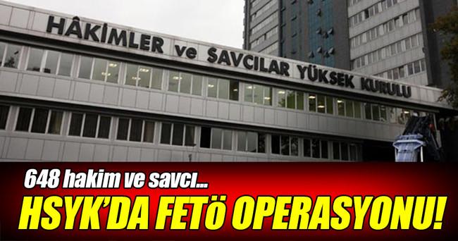 HSYK'da FETÖ operasyonu!