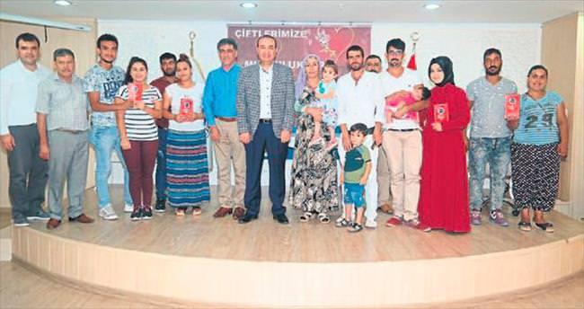 Ceyhan'da toplu nikâh heyecanı