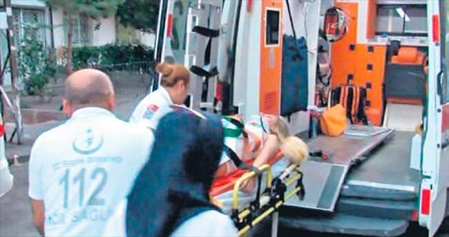 Otelin balkonundan düşen kadın yaralandı