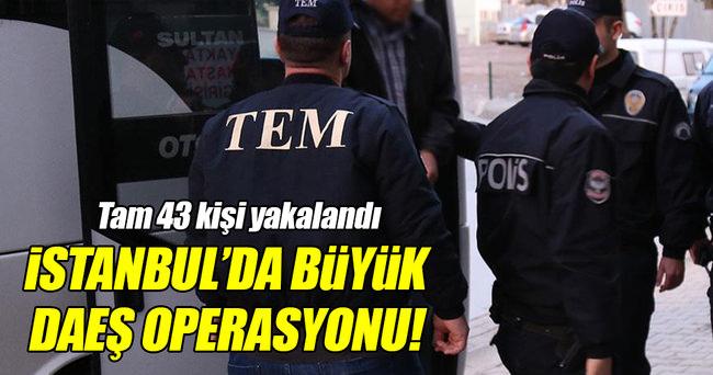 İstanbul'da DAEŞ operasyonu!