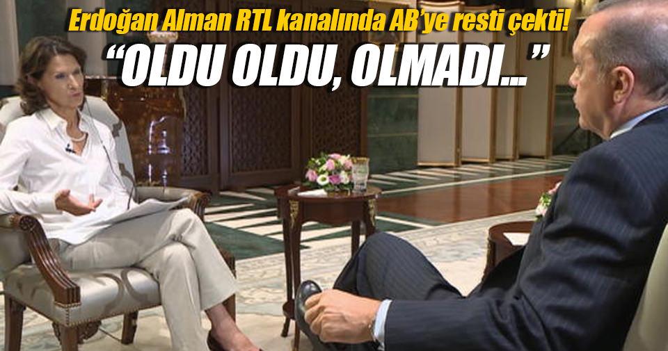 Cumhurbaşkanı Erdoğan'dan Avrupa'ya eleştiri!
