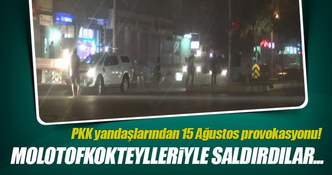 PKK yandaşları polise molotofkokteylleriyle saldırdı!