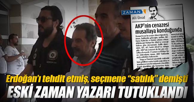 Zaman Gazetesi eski yazarı yakalandı