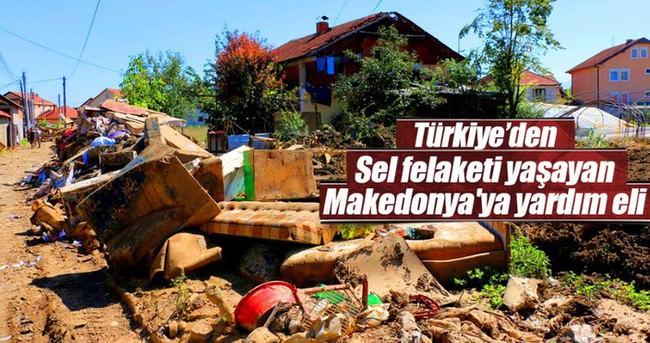 Türkiye'den sel felaketi yaşayan Makedonya'ya yardım eli