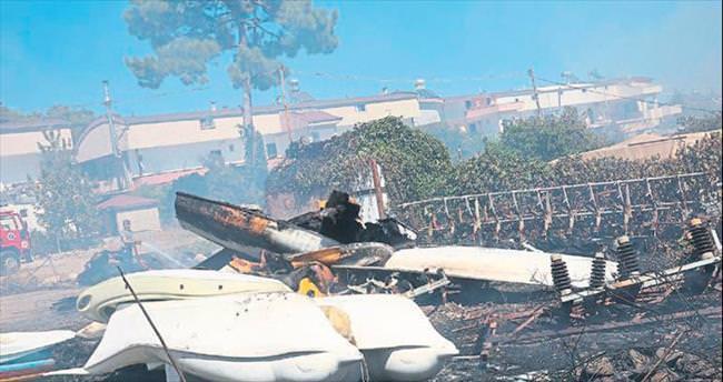 Kemer'de çöpten çıkan yangın çok ucuz atlatıldı