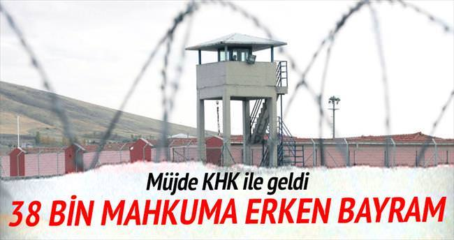 38 bin mahkûmun erken tahliye sevinci