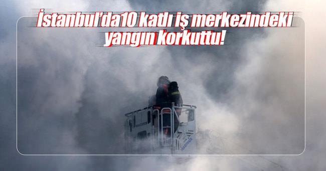 Merter'de korkutan yangın