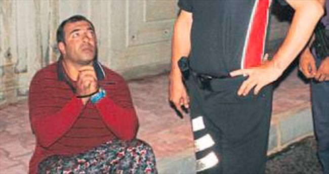 Etekli adam polisi peşine taktı