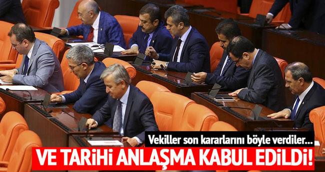 Türkiye ve İsrail arasındaki anlaşma kabul edildi