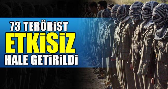 Şemdinli'de 73 terörist etkisiz hale getirildi