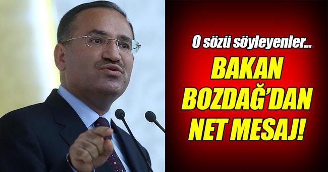 Bozdağ: 'Türkiye DAEŞ'e yardım etti' diyen Türkiye düşmanıdır