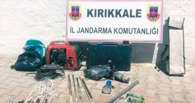 Kırıkkale'de 5 defineciye suç üstü yapıldı