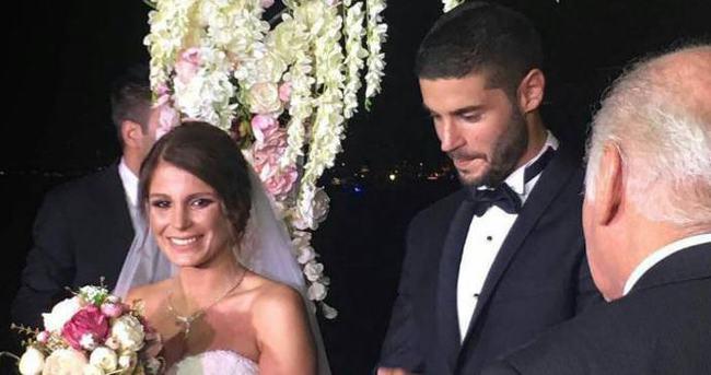 Berk Oktay ile Merve Şarapçıoğlu evlendi